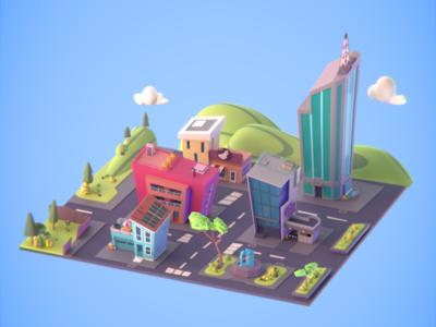 The Makata 3D City