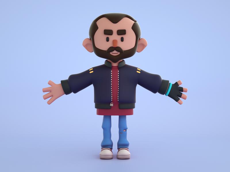 3D Character - Makata The 3D Guy branding avatar design avatar personnage design human character octanerender octane 3d