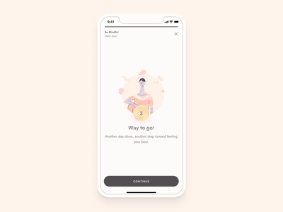 Jour - Completed ui smooth dailyui journaling avatar character