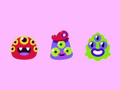 Bunch Monsters hat eyes mario animation illustration ui avatar monsters character