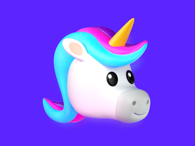 3D Unicorn - Zenly animal avatar octane unicorn 3d