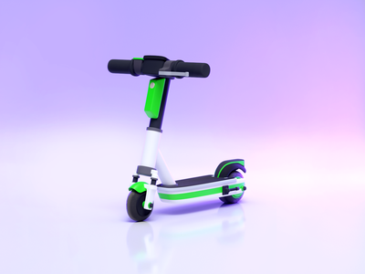 3D Lime scooter model lime electric scooter blender 3d