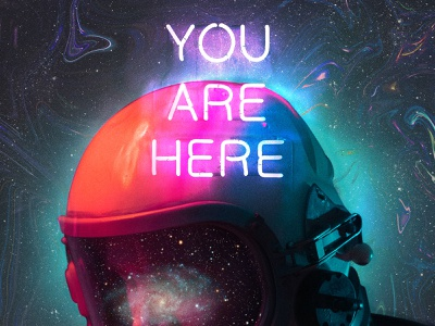 Supernaut unsplash surrealism psychedelic stars neon digital collage collage astronaut