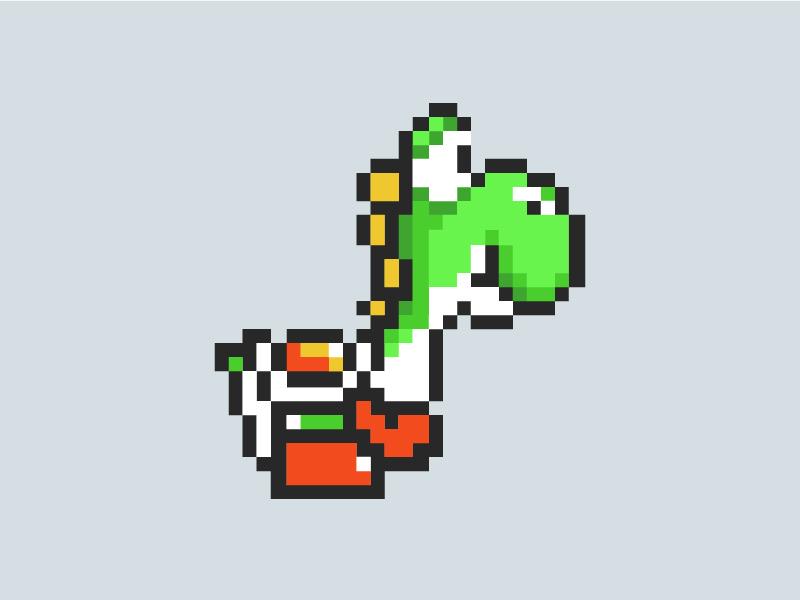 Pixel Yoshi by Jessica Wright - Dribbble