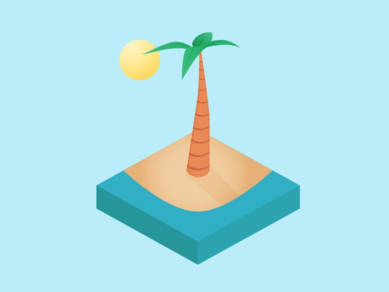 Isometric palm 02