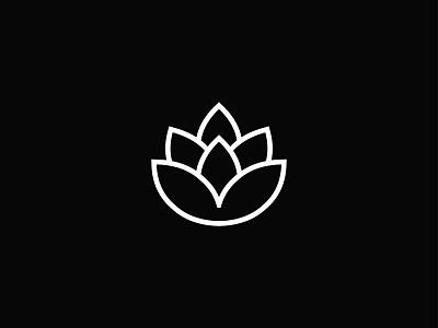 Lotus Flower flat logo design icon line icons