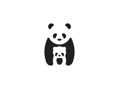 Panda flat minimal illustration vector logo icon set icon design icons
