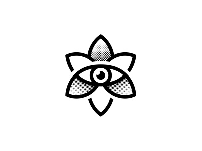 EYE + FLOWER minimal flat illustration vector logo icon set line icon design icons