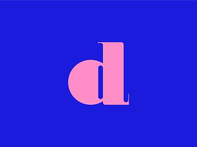 Letter d flat minimal logo typography line icon design icons