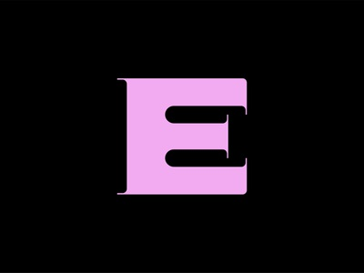 Letter E minimal vector design icons letters e type lettering typography