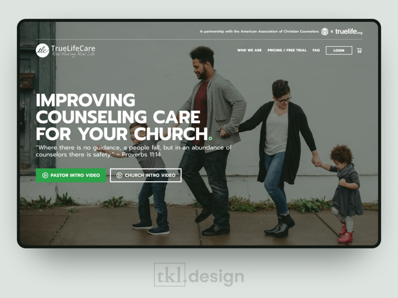 TrueLifeCare Landing Page Redesign