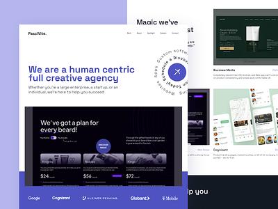 PasciVite — Website Redesign website design landingpage