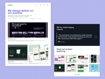 PasciVite — Work Pages agency user experience case study