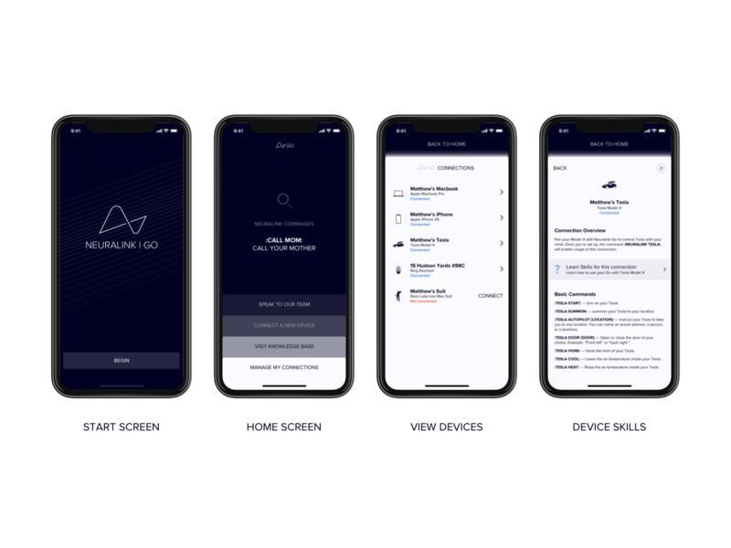 Neuralink Go App mind brain apple macbook tesla iphone app design iphone app neuralink