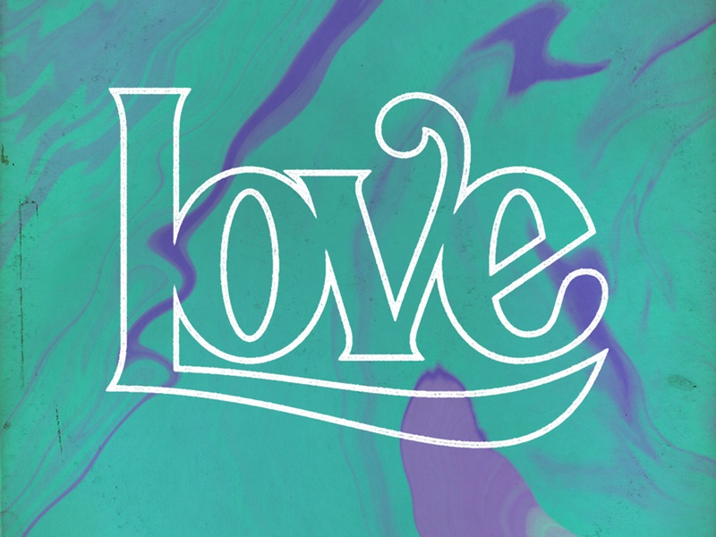 Love lettering typography type