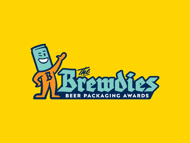 The Brewdies mascot branding illustration logo typography type