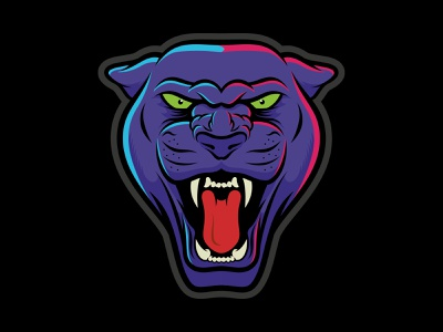 Panther Affinity purple panther illustration