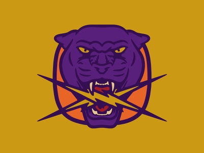 Panther Again purple yellow illustration panther