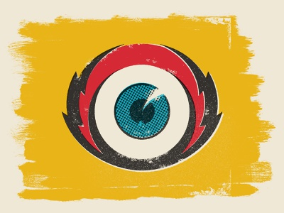 Eyeball Thing illustration distressed eyeball eye