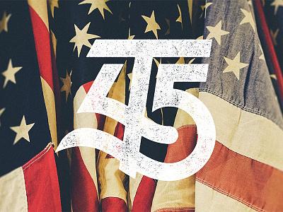 T45 - Inauguration Day 2017 trump flag america potus