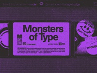 Monsters of Type VHS