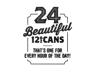 24 Cans type typography