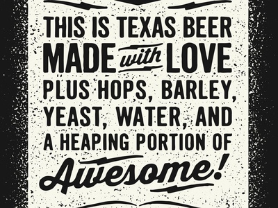 GCB Can Typography typography beer