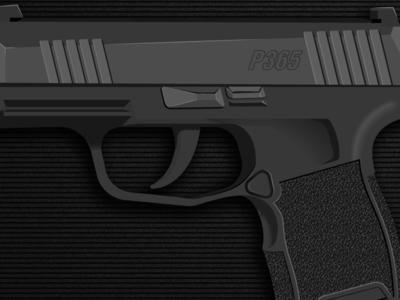 Sig Sauer P365 illus pattern vector pistol gun illustration