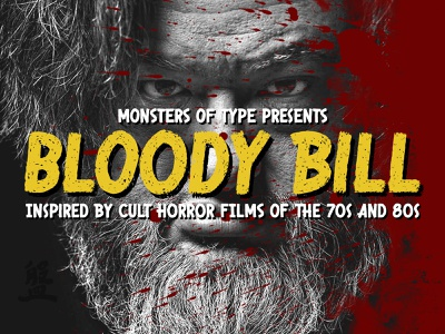 Bloody Bill Font horror 80s typography type font
