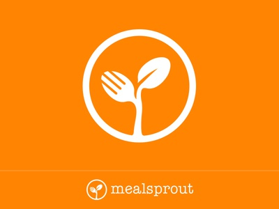 Mealsprout Logo food discovery logo food app mealsprout