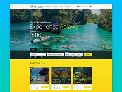 Cebu Pacific Website Redesign landing page cebu pacific airline website