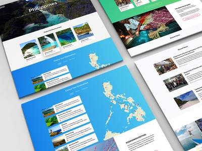 Philippines Tourism Landing Page landing page interaction tourism sketch principle philippines