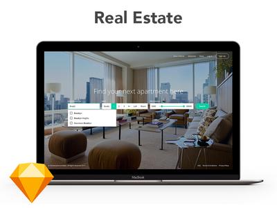 Real Estate Web and iOS Application web app ios sketch real estate