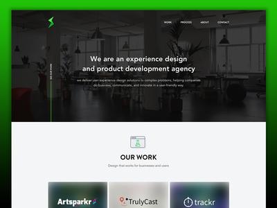 UX/Dev Agency Landing dev company landing page dev agency ux agency