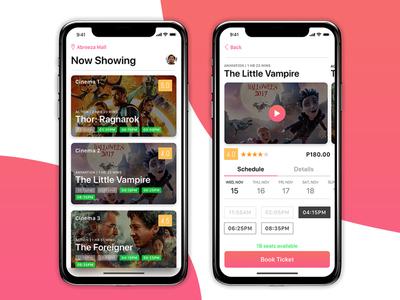 Sureseats Movie App iphone10 ios11 movie app