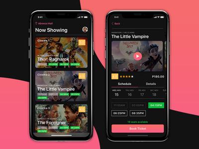 Sureseats Movie App Dark Theme