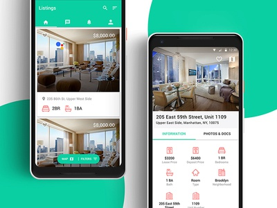 Real Estate Android Application real estate app android pixel 2 pixel material material ui real estate