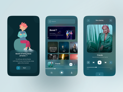 music player ui design concept music music player