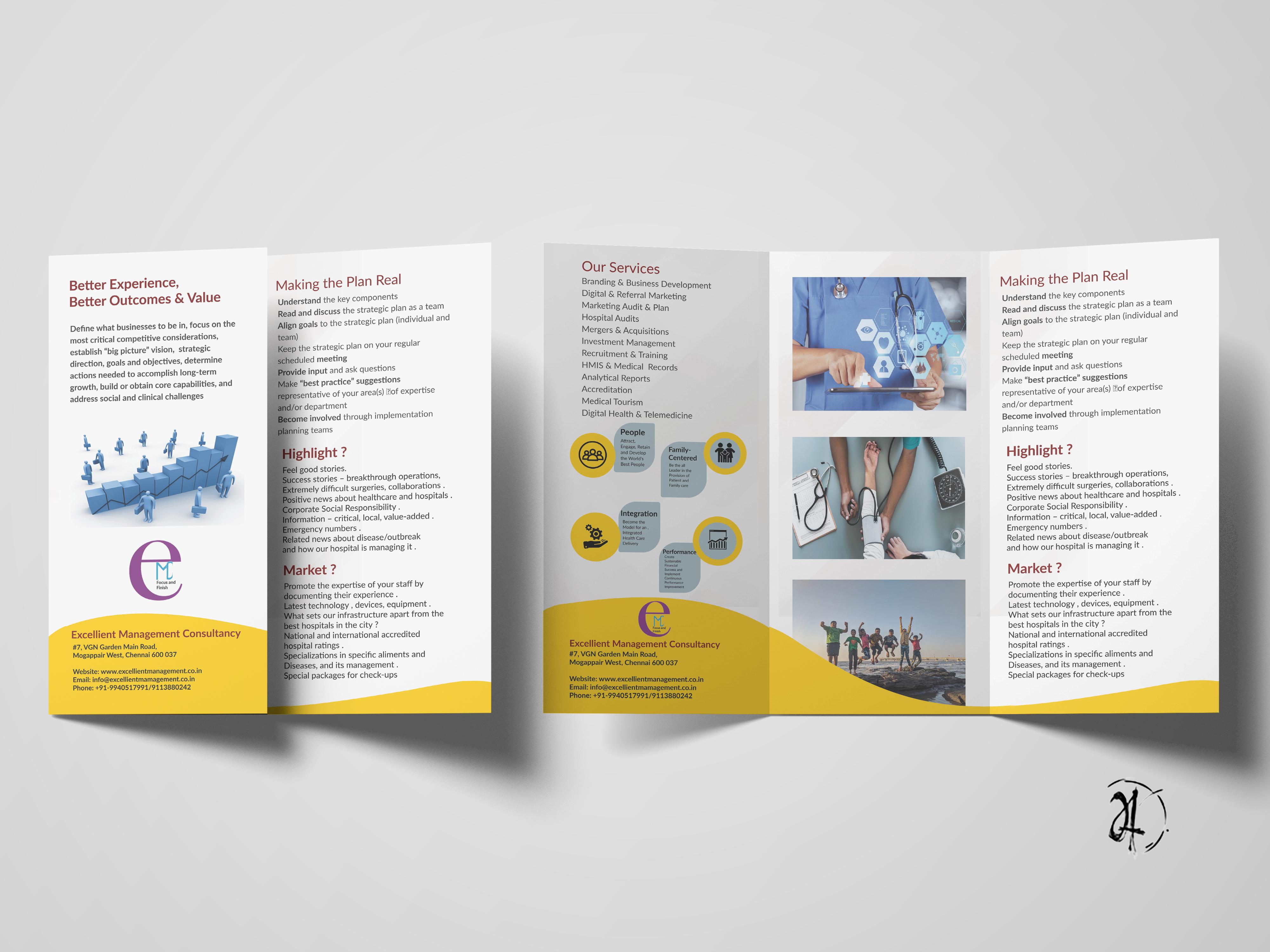 3-Fold Flyer Design by ADITYA RM on Dribbble