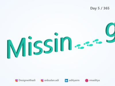 Missing -Isometric Illustration
