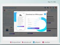 White Paper Pop-Up
