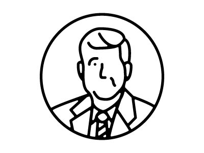 Jack icon illustration jfk john f kennedy jack kennedy travis ladue