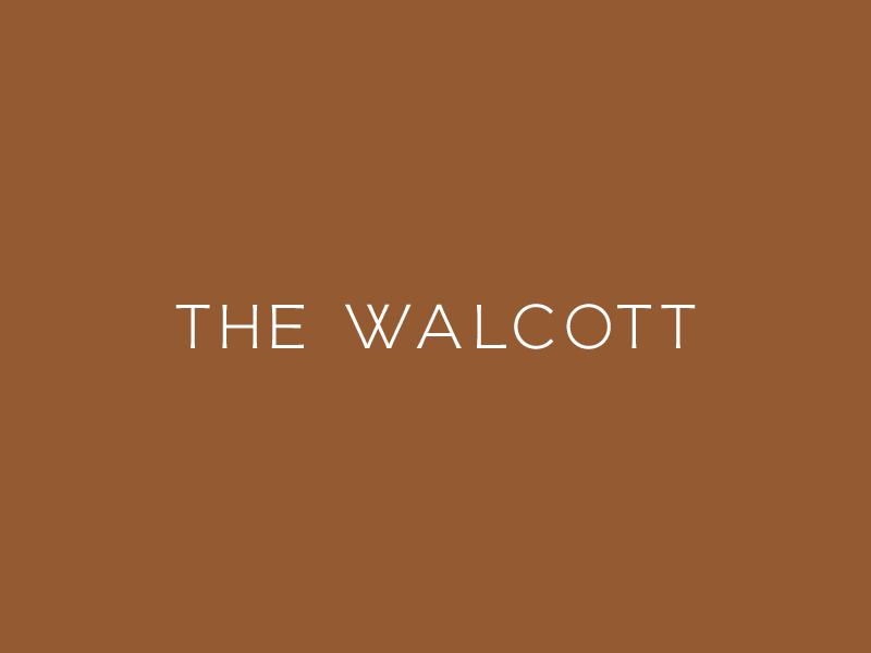 The Wallcott wordmark logo travis ladue