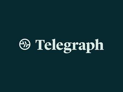 Telegraph icon wordmark logo travis ladue