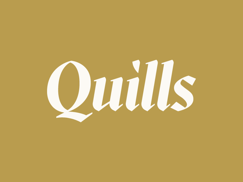 Quills quills logo studio mast travis ladue