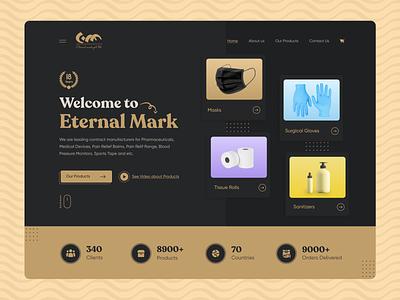 Website Design ecommerce medical black web website design home page landing page web design
