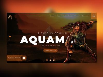 Aquaman Landing page