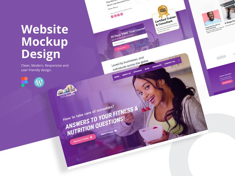 Living Wealthy Austin Mockup design ui web