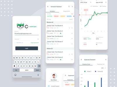 Turf Assistatnt App Mockup design ui app