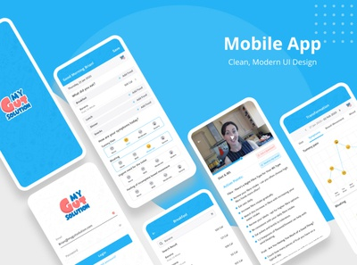 My Gut Solution App Mockup design ui app